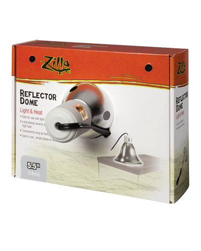 Picture of Zilla Silver Reflector Dome Light & Heat Incandescent Fixture - 5.5""