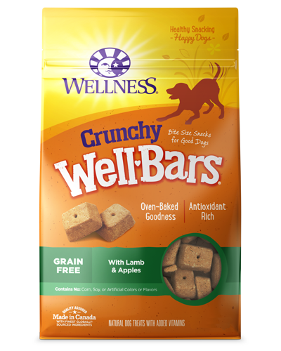 Picture of Wellness Grain Free Crunchy WellBars Lamb & Apples - 20 oz.
