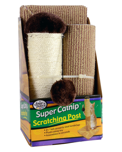 "Picture of Four Paws Super Catnip 21"" Carpet and Sisal Scratching Post"