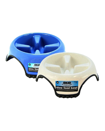 Picture of JW Pet Skid Stop Jumbo Slow Feed Bowl - Assorted Colors