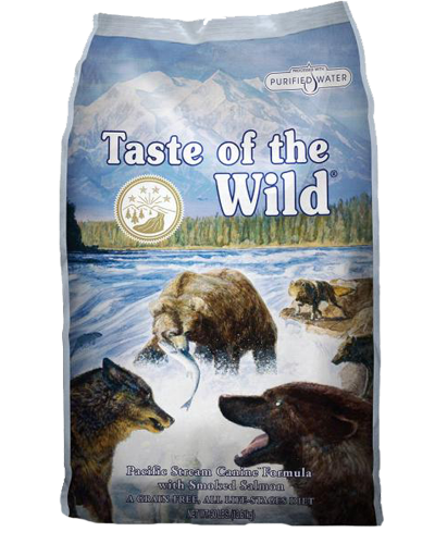 Picture of Taste Of The Wild Grain Free Adult Pacific Stream Recipe with Smoked Salmon - 5 lbs.