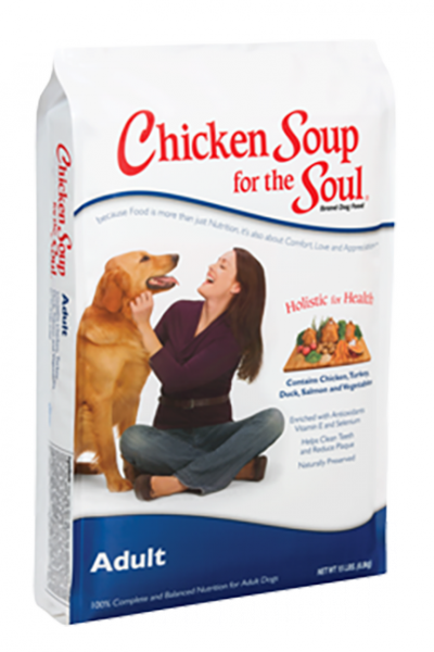 Picture of Chicken Soup for the Soul Adult Dry Dog Formula with Chicken and Turkey - 5 lb.