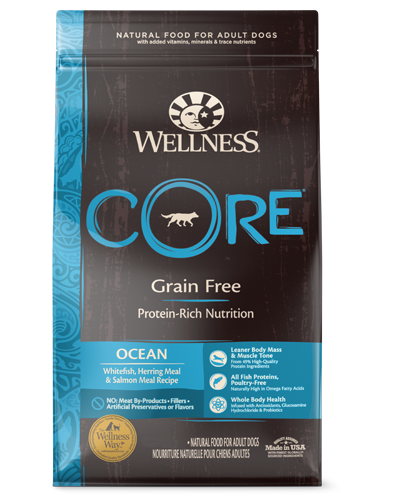 Picture of Wellness CORE Grain Free Ocean Recipe with Whitefish, Herring Meal, & Salmon Meal - 22 lbs.
