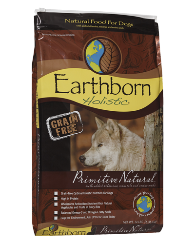 Picture of Earthborn Holistic Grain Free Primitive Natural Formula with Turkey Meal - 14 lb.