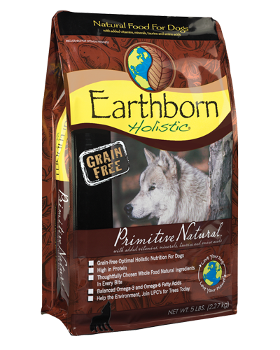 Picture of Earthborn Holistic Grain Free Primitive Natural Formula with Turkey Meal - 5 lb.
