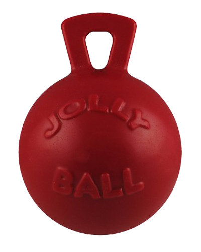 Picture of Jolly Pet Tug-N-Toss Red Ball with Handle - 10""