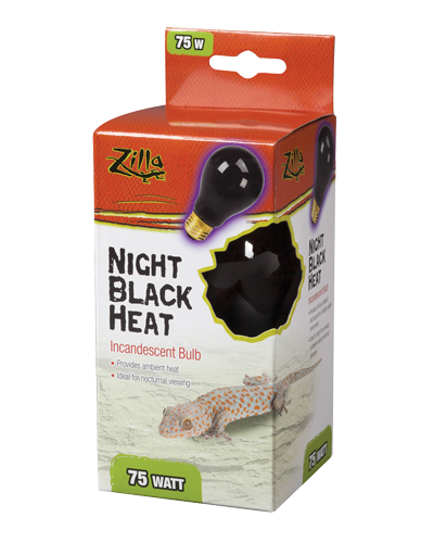 Picture of Zilla Night Black Heat Incandescent Bulb - 75 Watt