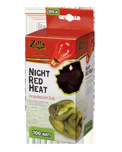 Picture of Zilla Night Red Incandescent Heat Bulb - 100 Watt
