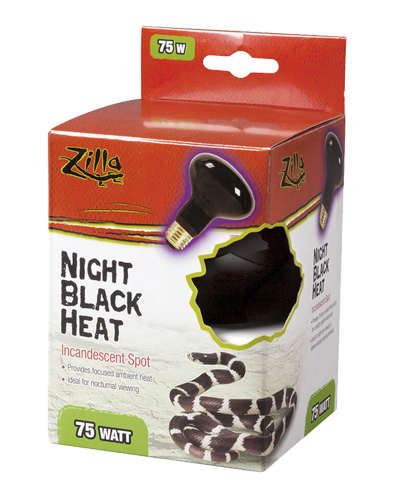 Picture of Zilla Night Black Heat Incandescent Spot Bulb - 75 Watt