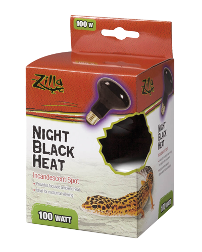 Picture of Zilla Night Black Heat Incandescent Spot Bulb - 100 Watt