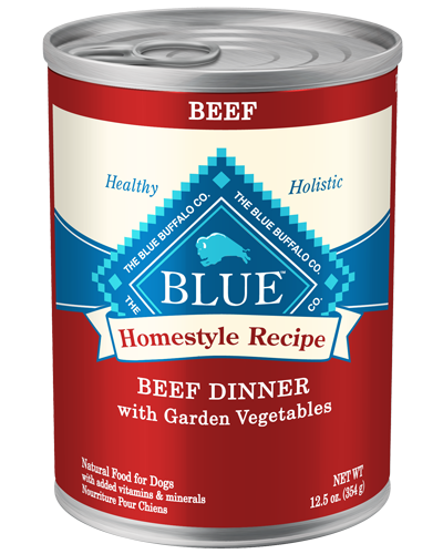 Picture of Blue Buffalo Homestyle Recipe Beef Dinner with Garden Vegetables - 12.5 oz.