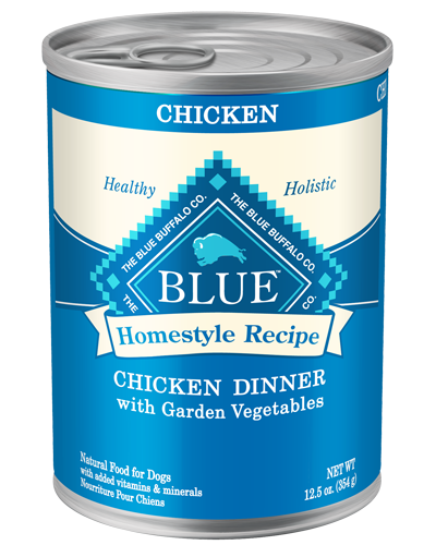 Picture of Blue Buffalo Homestyle Recipe Chicken Dinner with Garden Vegetables - 12.5 oz.