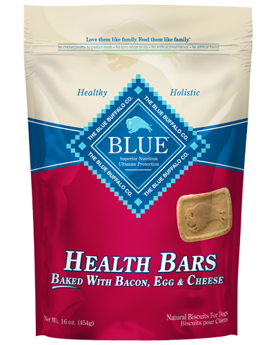 Picture of Blue Buffalo Health Bars Baked with Bacon, Egg, and Cheese Natural Biscuits - 16 oz.
