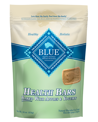 Picture of Blue Buffalo Health Bars Baked with Apples and Yogurt Natural Biscuits - 16 oz.