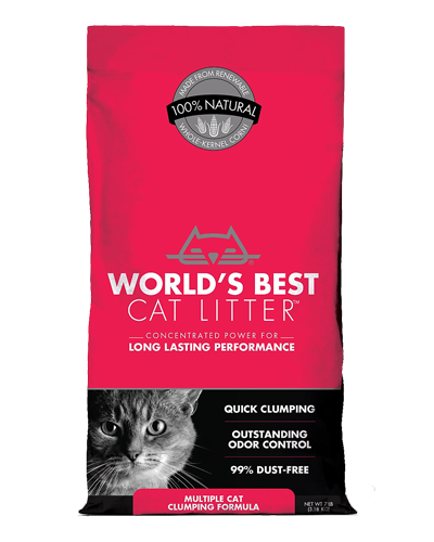 Picture of World's Best Cat Litter Multiple Cat Clumping Litter - 7 lb.