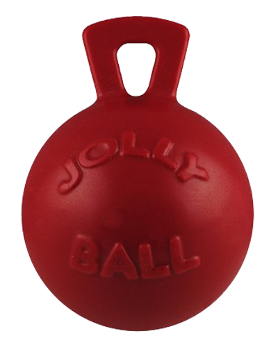 Picture of Jolly Pet Tug 'n' Toss Red Ball with Handle - 4.5""