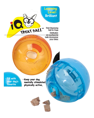 "Picture of Our Pets Smarter Toss IQ Treat Ball - 3"" Assorted Colors"