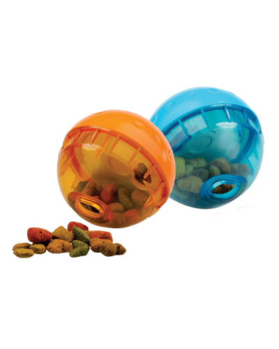 "Picture of OurPets Smarter Toss IQ Treat Ball - 5"" Assorted Colors"