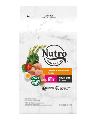Picture of Nutro Wholesome Essentials Small Breed Adult Farm-Raised Chicken, Brown Rice, & Sweet Potato - 5 lbs.