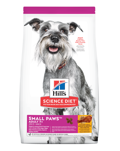 Picture of Hill's Science Diet Adult 7+ Small Paws Chicken Meal, Barley & Brown Rice Recipe Dry Dog Food - 4.5 lbs.