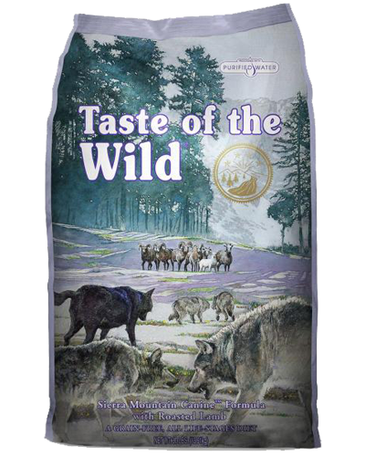 Picture of Taste Of The Wild Grain Free Adult Sierra Mountain Recipe with Roasted Lamb - 5 lbs.