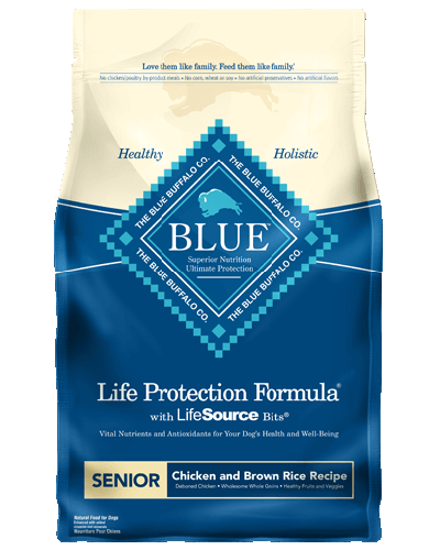 Picture of Blue Buffalo Life Protection Formula Chicken and Brown Rice Recipe for Senior Dogs - 15 lb.
