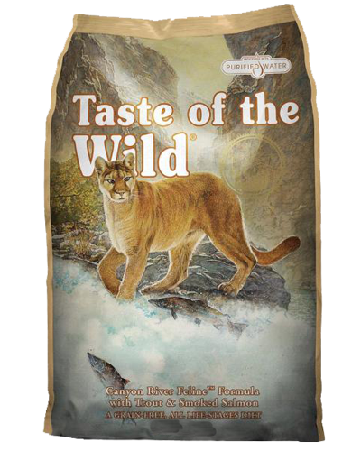 Picture of Taste Of The Wild Grain Free Adult Canyon River Recipe with Trout and Smoked Salmon - 5 lbs.