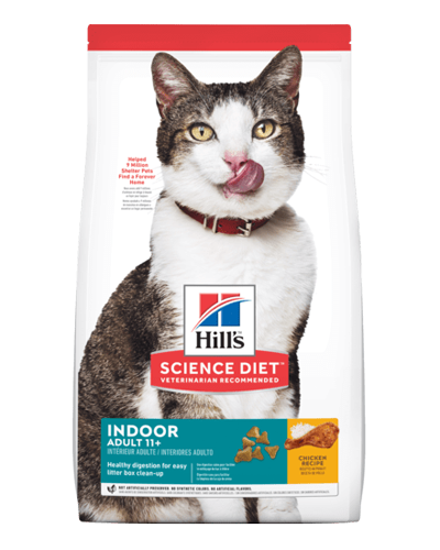 Picture of Hill's Science Diet Adult 7+ Indoor Chicken Recipe Dry Cat Food - 3.5 lbs.