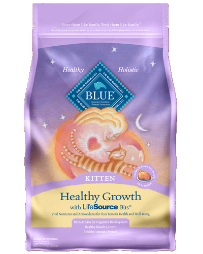 Picture of Blue Buffalo Kitten Healthy Growth Chicken and Brown Rice Recipe - 3 lb.