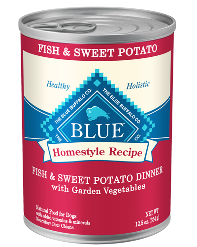 Picture of Blue Buffalo Homestyle Recipe Fish and Sweet Potato Dinner with Garden Vegetables - 12.5 oz.