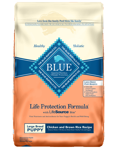 Picture of Blue Buffalo Life Protection Formula Chicken and Brown Rice Recipe for Large Breed Puppies - 15 lb.