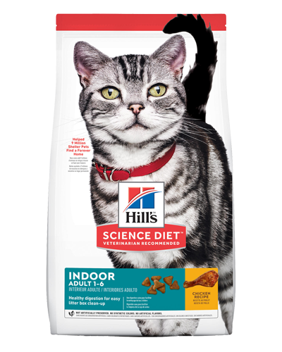 Picture of Hill's Science Diet Adult Indoor Chicken Recipe Dry Cat Food - 15.5 lbs.