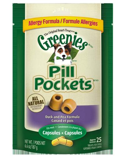 Picture of Greenies Grain Free Duck & Pea Pill Pockets Capsule - 6.6 oz.