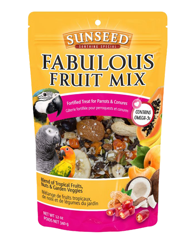 Picture of Sunseed Fabulous Fruit Mix For Parrots and Conures - 12 oz