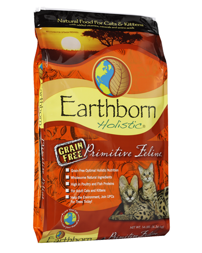 Picture of Earthborn Holistic Grain Free Primitive Feline Formula with Turkey Meal - 14 lb.