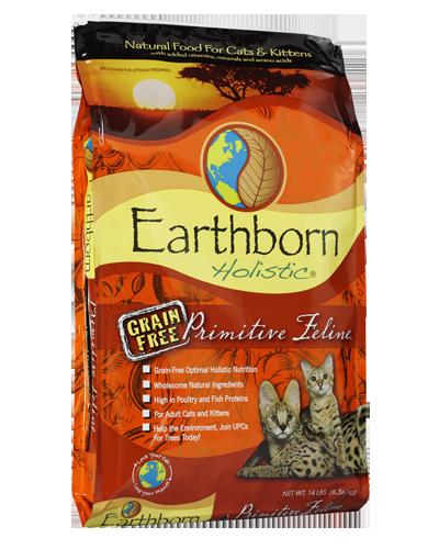 Picture of Earthborn Holistic Grain Free Primitive Feline Formula with Turkey Meal - 14 lb.