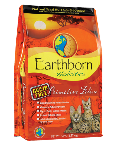 Picture of Earthborn Holistic Grain Free Primitive Feline Formula with Turkey Meal - 5 lb.