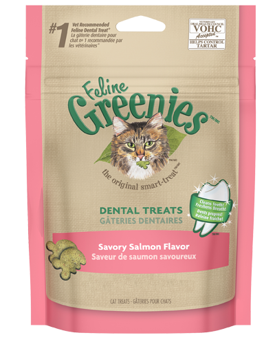 Picture of Feline Greenies Savory Salmon Flavor Dental Treats - 5.5 oz.