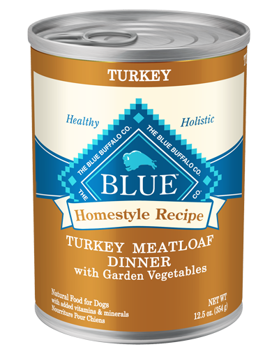 Picture of Blue Buffalo Homestyle Recipe Turkey Meatloaf Dinner with Garden Vegetables - 12.5 oz.