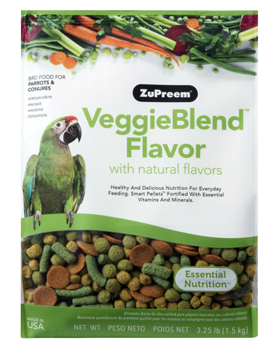 Picture of Zupreem VeggieBlend Flavor for Parrots and Conures - 3.25 lb.