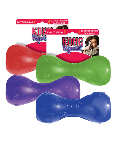 "Picture of KONG Squeezz Dumbbell Large - 8"" - Assorted Colors"