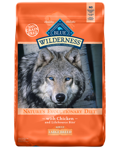 Picture of Blue Buffalo Wilderness Grain Free Chicken for Large Breeds - 24 lb.