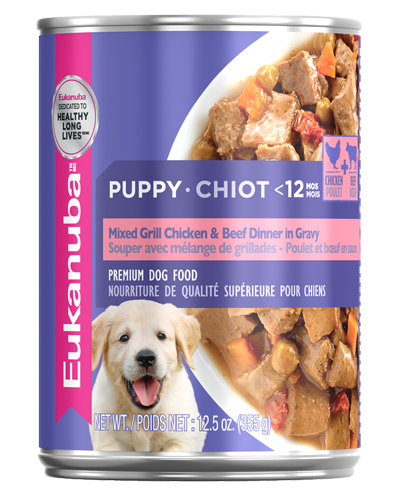 Picture of Eukanuba Puppy Mixed Grill Chicken and Beef Dinner in Gravy - 12.5 oz.