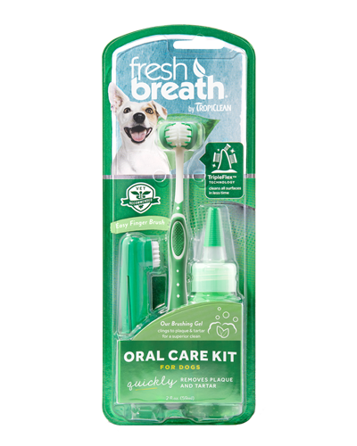 Picture of Tropiclean Fresh Breath Oral Care ToothBrush Kit for Small Dogs