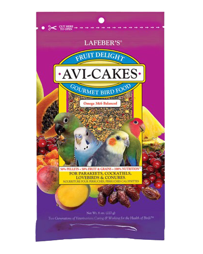 Picture of Lafeber's Fruit Delight Avi-Cakes for Small Birds - 8 oz.