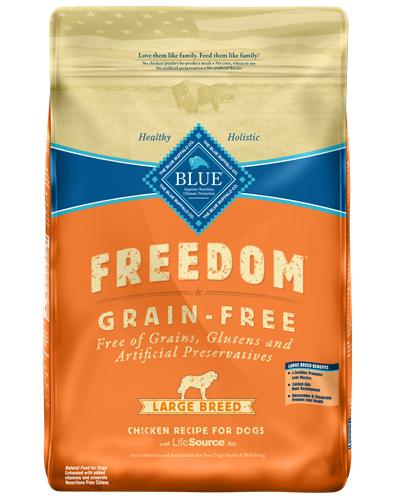 Picture of Blue Buffalo Freedom Grain Free Chicken Recipe for Large Breeds - 24 lb.
