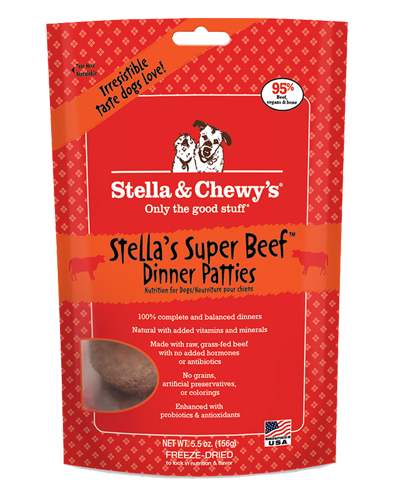 Picture of Stella & Chewy's Stellas Super Beef Freeze Dried Grain Free Dinner Patties - 5.5 oz.