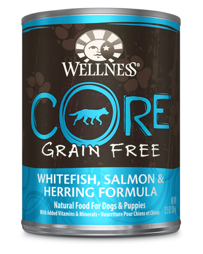 Picture of Wellness Grain Free CORE Whitefish, Salmon & Herring - 12.5 oz.