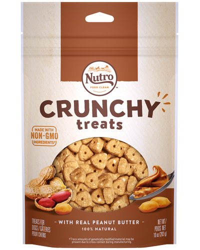 Picture of Nutro Crunchy Treats with Real Peanut Butter - 10 oz.