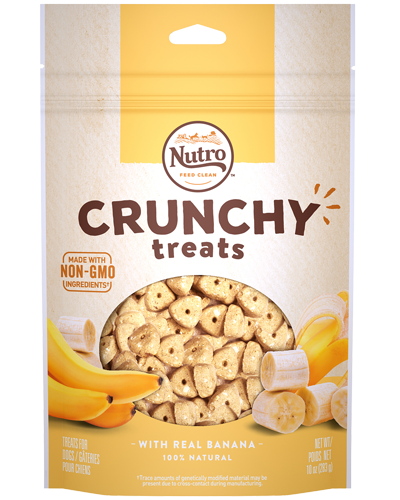Picture of Nutro Crunchy Treats with Real Banana - 10 oz.